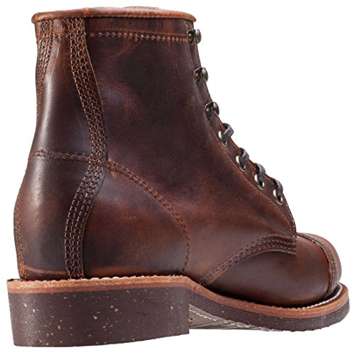 Chippewa Mens 6 Homestead Pebbled Boot Tan Renegade breqW