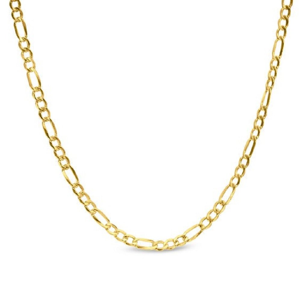 14K Yellow Gold 2.5mm Figaro 3+1 Link Chain Necklace - Multiple lengths available-18''