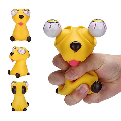 Mandy Novelties Pop Out Eyes Stress Relief Squeeze Reliever Vent Toys Gift Animal Dog from Mandy