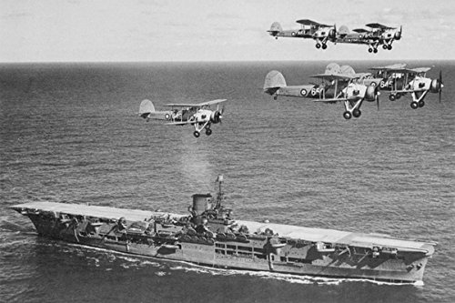 Gifts Delight LAMINATED 36x24 Poster: Ww2 - HMS Ark Royal 91