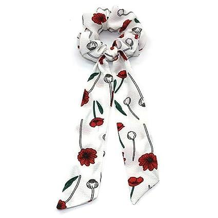 Cintas de Pelo para Mujer, Boho Blanco Lotus Impreso Moda Bowknot ...