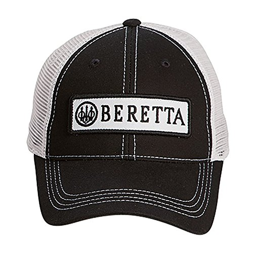 Beretta Men's Patch Trucker Hat, Black/White, One Size
