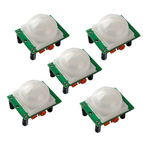 - Gowoops 5PCS HC-SR501 Adjust Ir Pyroelectric Infrared PIR Humen Motion Sensor Detector Modules for Arduino UNO R3 Mega 2560 Nano