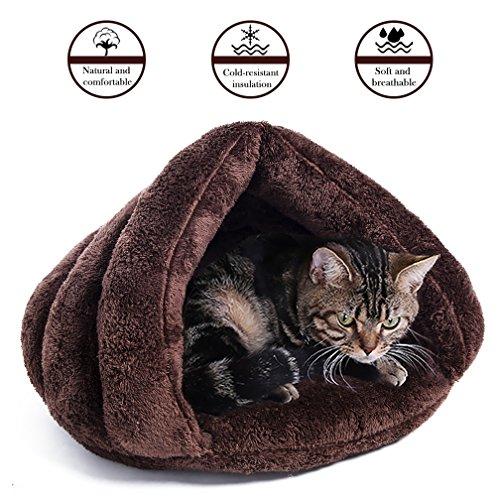 Pet Cat Bed House Winter Soft Self-Warming Sleeping Bag Cat Kitten Dog Puppy Bed Pad Mat Triangle Nest (Bunny Nest)
