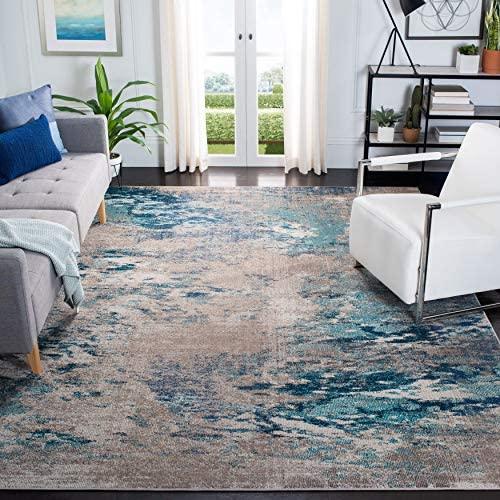 Safavieh Madison Collection MAD440M Modern Boho Abstract Non-Shedding Stain Resistant Living Room Bedroom Area Rug