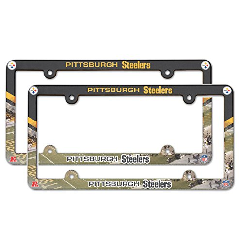 Pittsburgh Steelers NFL Plastic License Plate Frame - 2 Pack from SteelerMania