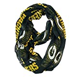 NFL Officially Licensed Green Bay Packers Sheer Logo Infinity Scarf