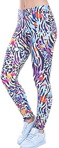 Zebra Print Yoga Pants - 1