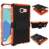 Samsung Galaxy A5 (2016) Case, Galaxy A5(2016) Shockproof Cover, Dual Layer Protection Shock Absorption Hybrid Rugged Case Hard Shell Cover with Kickstand for Samsung Galaxy A5 (2016) A510 (Orange)