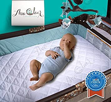 Amazon Com Acc 2 Pack Bamboo Pack N Play Mattress Pad Cover Fits