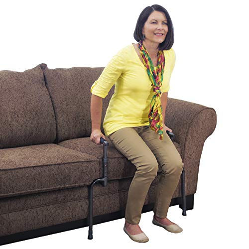 Able Life Universal Stand Assist - Adjustable Standing Mobility Aid + Assist Handle for Couch Chair & Sofa + Dual Cushioned Support Handles for Fall Protection from Able Life