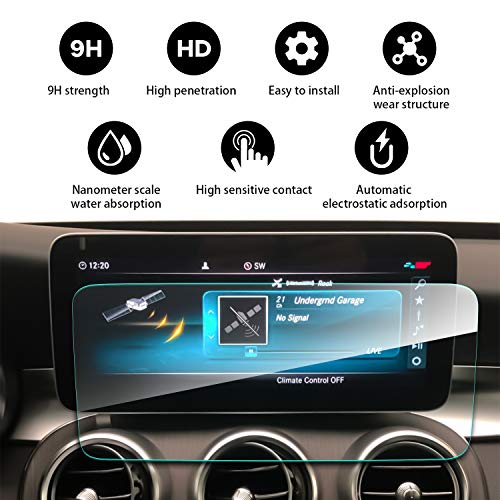 YEE PIN 2019 Mercedes Benz C-Class W205 10.25Inch Navigation Screen Film, Tactile Silky Slippage Easy to Clean Scratch Resistance Anti-Explosion & High Sensitivity Screen - Film C&a