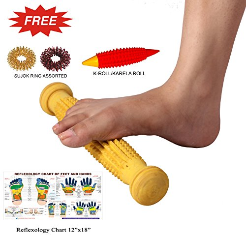 Wooden-Foot-Acupressure-Massager-Pointed-Spiked-Single-Roller-12