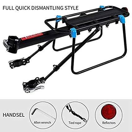Bicycle Luggage Carrier Cargo Rear Rack Shelf Cycling Seatpost Bag Holder Stand