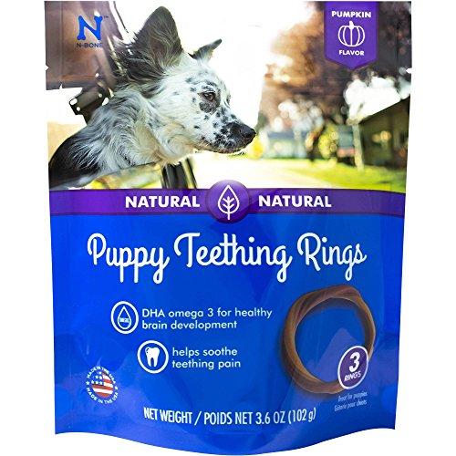 N-Bone Puppy Teething Ring Pumpkin Flavor, 3.6 oz, 3 Pack lovely