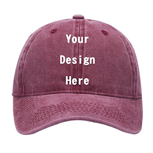 SW&IM Men Womens Custom Hat Graphic Print Design,Team Christmas Fashion Trucker Hats Adjustable Snapback Baseball Caps (Retro Wine)