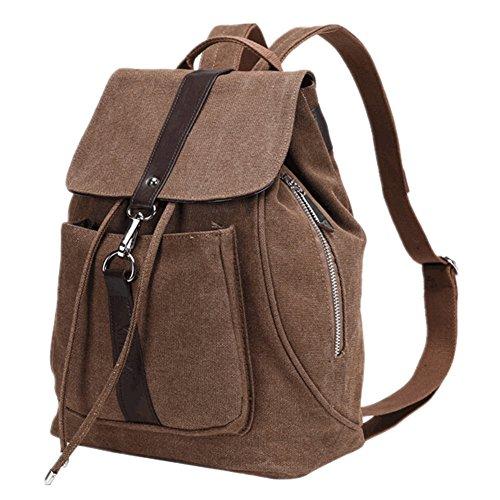 TOMATO-smile - Bolso mochila  de Lona para mujer azul negro café