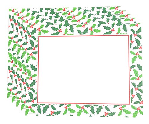 Combined Holiday Paper Placemats for Parties - Disposable Christmas Paper Placemats - for Fall Weddings, Dinner Party or Birthday - 36 Total Paper Place Mats -