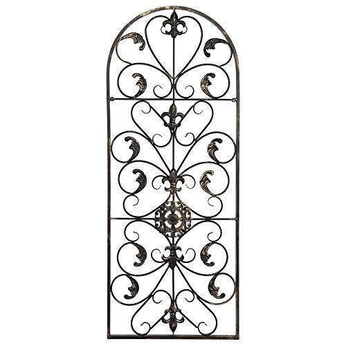 - Decdeal Metal Wall Decor, Decorative Victorian Style Spanish Arch Wall Art, Semi Circular Retro Iron Ornament, for Living Room Home Decoration, 41.5 Inches