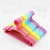 10PC Plastic Non-Slip Clothes Hanger Skirt Kid Clothes Stand Colorful Clothes Hanger For Baby Child