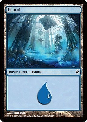 Magic: the Gathering - Island (169) - New Phyrexia - Foil