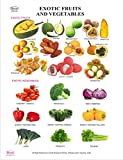 Dbios Digitally Printed Exotic Fruits And Vegetables Education Wall Chart Poster