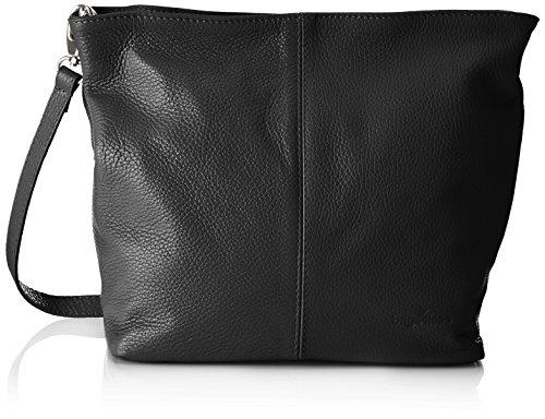 Bags4Less Damen Josy Schultertasche, 13x33x28 cm Schwarz (Schwarz)