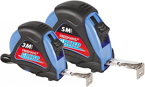 FREEMANS GR3:16 + GR:519 Gripp 3M:16mm Measuring Tape Plus Gripp 5M:19mm Measuring Tape Price & Reviews