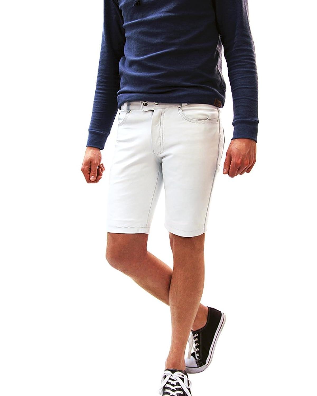 Leder Short Pants Lederhose Lederjeans Bockle® 1991 Short White Dream