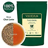VAHDAM, ​Tulsi Basil Masala Chai Tea (50 Cups) | Holy Basil Tea | Tulsi Tea With 100% NATURAL SPICES | Spiced Chai Tea Loose Leaf | Brew Hot Tea, Iced Tea or Chai Latte | Loose Leaf Tea | 3.53oz