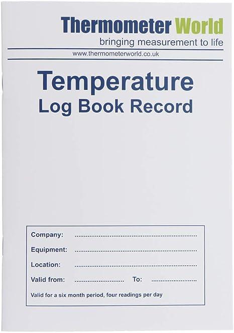 Libro de registro de temperatura para alimentos de 6 meses ...