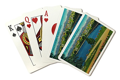 Volunteer Park and Olympic Mountains, Seattle (Playing Card Deck - 52 Card Poker Size with Jokers)