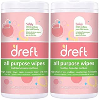 Dreft Multi-Surface All-Purpose Cleaning Wipes for Baby Toys, Car Seat,
