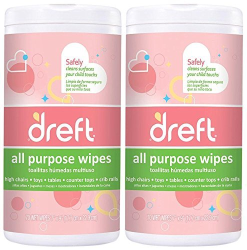 Dreft All Purpose Wipes - 70 ct - 2 pk by Dreft