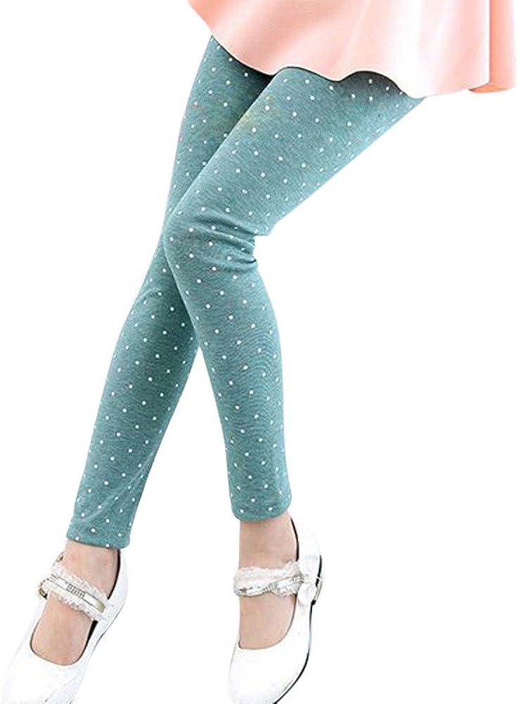 Soly Tech Baby Girls Polka Dot Ankle Length Basic Leggings Skinny Stretchy Pants