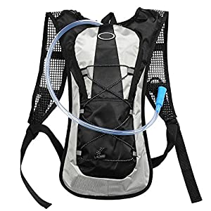 KLAREN Hydration Pack Water Rucksack Backpack Bladder Bag Cycling Bicycle Bike/Hiking Climbing Pouch + 2L Hydration Bladder Black