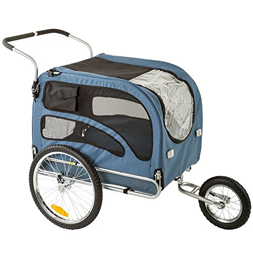 Rage Powersports PT-20304-B Blue 2-in-1 Pull-Behind Dog Bike Carrier Bicycle Pet Trailer ,1 Pack by Rage Powersports (Image #2)