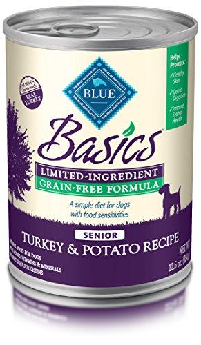 BLUE Basics Limited Ingredient Diet Senior Grain Free Turkey & Potato  Wet Dog Food 12.5-oz (Pack of 12) (Senior Turkey)