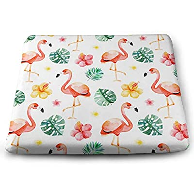 Yunshm Flamingo Tortoise Leaf Flower Solid Square Seat Cushion Bar Stool Office Chair Cushion Soft for Furniture Decoration Customized: Home & Kitchen