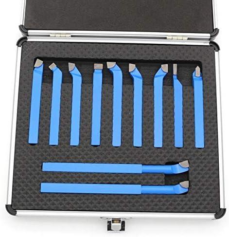 Drehwerkzeug-Sets Hartmetall-Spitzen-Drehmesser, Werkzeug zum Schweißen von Drehmaschinen, 11-teilig