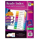 Ready Index Contemporary Contents Divider, 1-10, Multicolor, Letter, 6 Sets/Pack, Total 8 PK