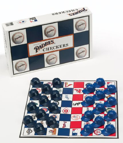 San Diego Padres vs Los Angeles Dodgers MLB Rivalry Miniature Helmets Checker Set ()