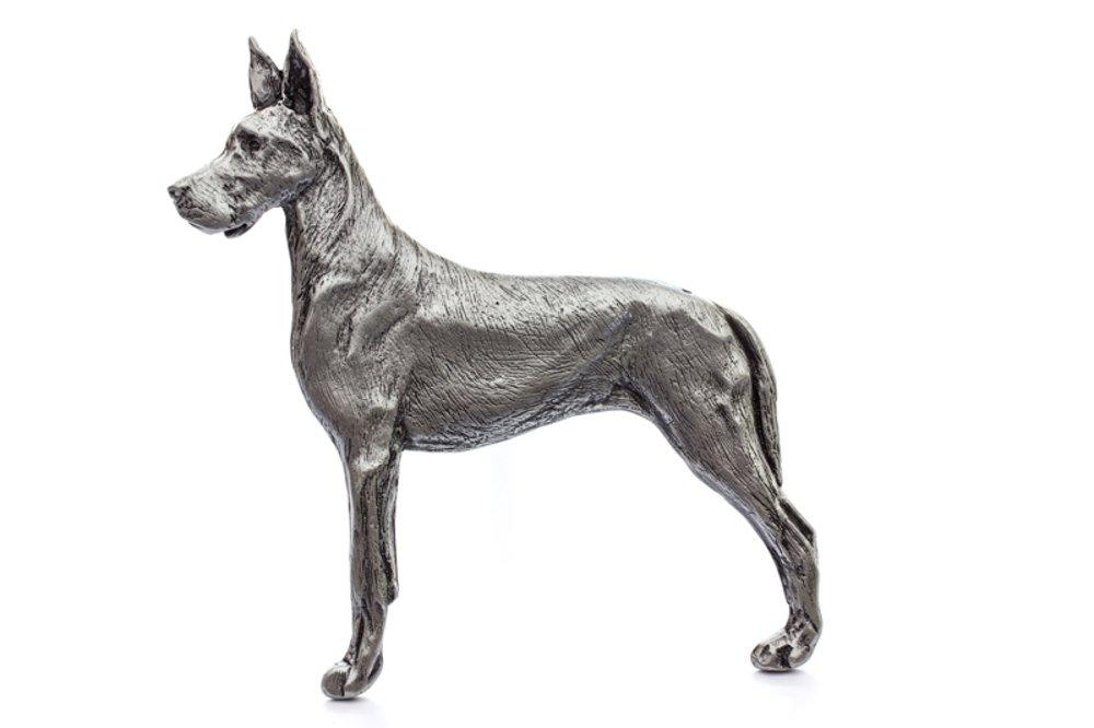 Grillie Great Dane-N Antiqued Nickel Finish Grille Ornament