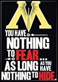 "Ata-Boy Harry Potter Ministry of Magic ""Nothing to Fear…"" 2.5"" x 3.5"" Magnet for Refrigerators and Lockers"