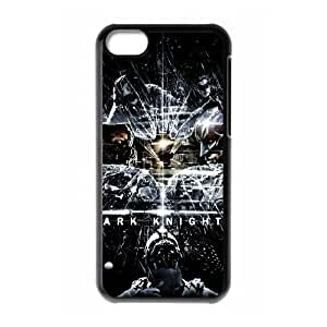 Personality customization TPU Case with Batman Batman iPhone 5c Cell Phone Case Black