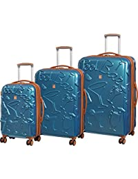 Happy Hour 3 Piece Expandable Hardside Spinner Luggage Set