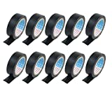 uxcell 55mm x 16mm Self Adhesive Electric Insulating Tape Roll Black 10pcs