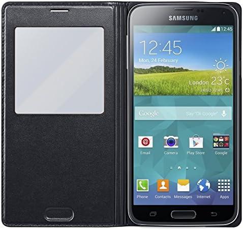 Samsung S-View - Funda para móvil Samsung Galaxy S5, color negro ...