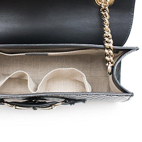 c0a83a309a78 Gucci Women's Micro GG Guccissima Leather Emily Purse Handbag (Black) -  Fashion