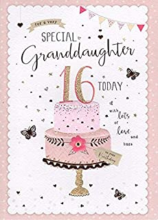 Granddaughter Happy 16th Birthday Card